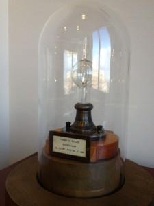 Edison light bulb patent model 1880